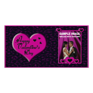 Valentine's Day Photo Card Customizable (Pink)