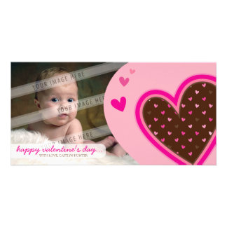 VALENTINE'S DAY PHOTOCARD :: funky hearts 12L Picture Card