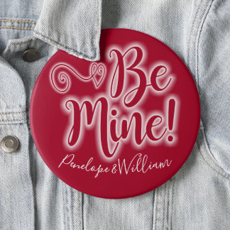 Valentine's Day Pin with Scrolling Heart Be Mine