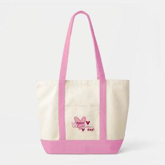 Valentine's day pink bag