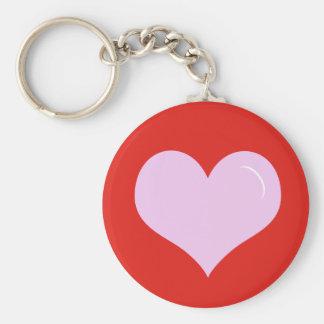 Valentine's Day Pink Heart Keychain