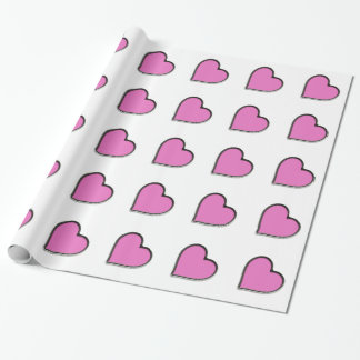 Valentine's Day Pink Heart Wrapping Paper