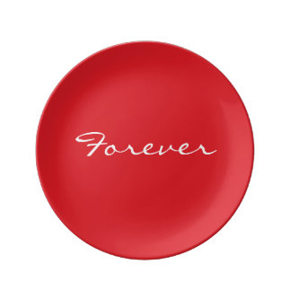 Valentine's Day Plate red with Forever