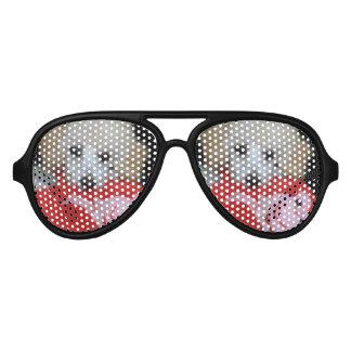 Valentine's Day Poodle  Dog Aviator Sunglasses