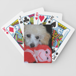Valentine's Day Poodle  Dog Bicycle Playing Cards