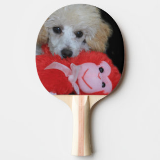 Valentine's Day Poodle  Dog Ping Pong Paddle