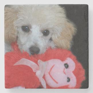 Valentine's Day Poodle  Dog Stone Coaster