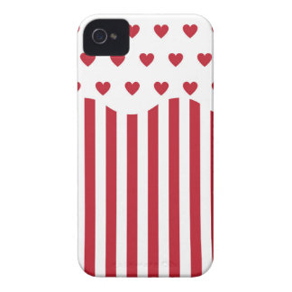 Valentines Day Popcorn iPhone 4 Case-Mate Cases