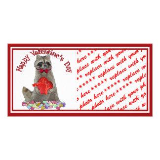 Valentine's Day  Raccoon Bandit Photo Card