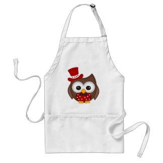 Valentine's Day Red Owl Standard Apron