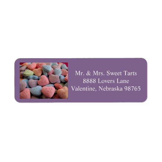 Valentines Day return address label 1 2016
