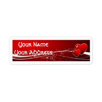 Valentines Day Return Address Labels
