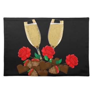 Valentine's day romantic design placemat