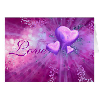 Valentine's Day Romantic Mauve Hearts Card