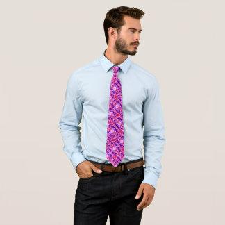 Valentine's Day Romeo Heart Silk Foulard Pattern Tie