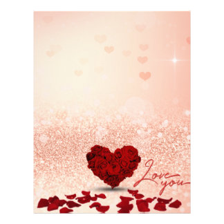Valentine's Day Rose Heart Bouquet - Letterhead