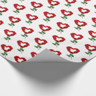 Valentine's Day Rose Petals Wrapping Paper