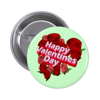 Valentine's Day Roses T-shirts and Gifts Buttons