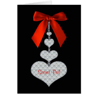 Valentine's Day - Secret Pal - Hearts Greeting Card