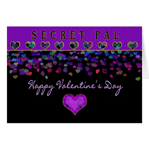 Valentine's Day - Secret Pal - Hearts Greeting Cards