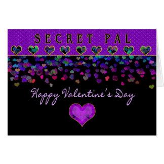 Valentine's Day - Secret Pal - Hearts Greeting Card