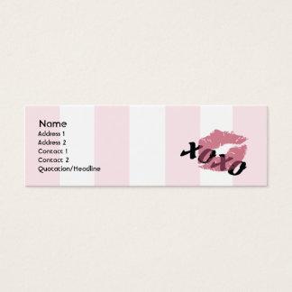 Valentine's Day - Skinny Mini Business Card