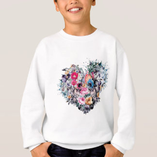 Valentine's day skull with hearts sweatshirt