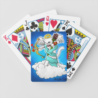 Valentine's Day Snow White Cupid Cat Bicycle Playing Cards