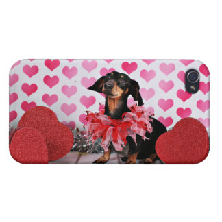 Valentine's Day - Sophia - Dachshund iPhone 4/4S Covers