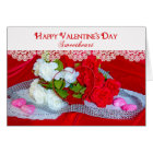 VALENTINE'S DAY - SWEETHEART -RED/WHITE ROSES/LACE CARD