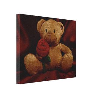 Valentine's Day Teddy Bear Canvas Prints