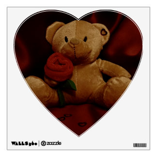 Valentine's Day Teddy Bear Wall Decal