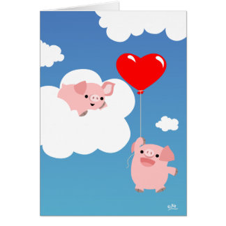 Valentine's day: The Wings of Love notecard