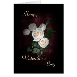 """Valentine's day - Three roses """"I love you"""" Greeting Card"""