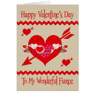 Valentine's Day To Fiance greeting card