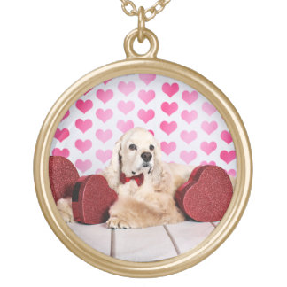 Valentine's Day - Tobey - Cocker Spaniel Gold Plated Necklace