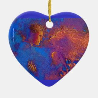 Valentine's Day token Ceramic Heart Ornament
