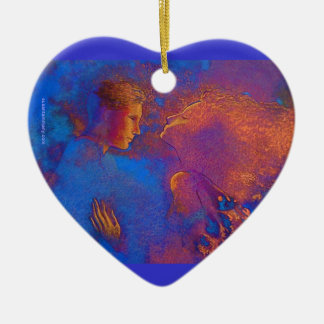 Valentine's Day Token Ceramic Ornament