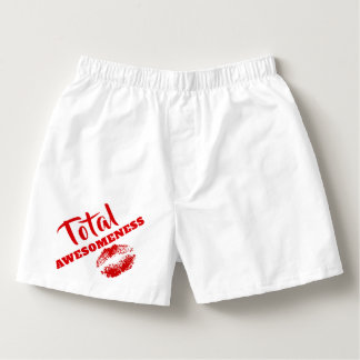 Valentine's Day Total Awesomeness Red Lips Boxers
