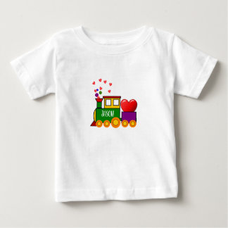 Valentines Day Train T-Shirt for Baby Boy