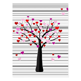 Valentine's day tree postcard