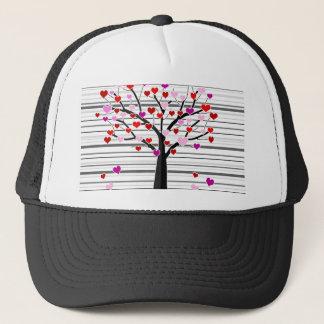 Valentine's day tree trucker hat
