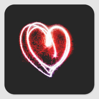 Valentine's Day Trendy Heart of Light Square Sticker