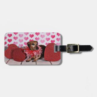 Valentine's Day - Trudy - Dachshund Bag Tag