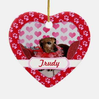 Valentine's Day - Trudy - Dachshund Ceramic Heart Ornament