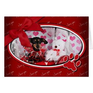 Valentine's Day - Trudy - Dachshund Greeting Card