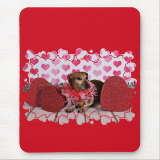 Valentine's Day - Trudy - Dachshund Mouse Pad