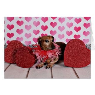 Valentine's Day - Trudy - Dachshund Note Card