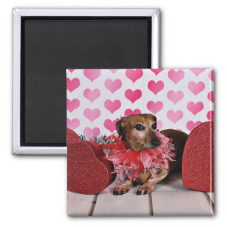 Valentine's Day - Trudy - Dachshund Square Magnet