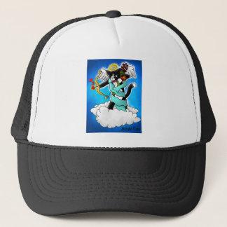 Valentine's Day Tuxedo Cupid Cat Trucker Hat